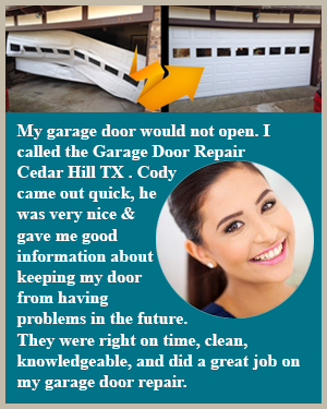 Call Garage Door Repair Cedar Hill TX